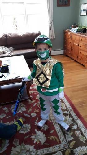 Hendry as Green Power Ranger